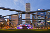 Jay Pritzker Pavilion by night