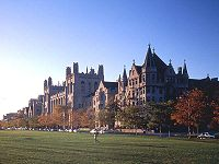The University of Chicago, as seen from the Midway Plaisance