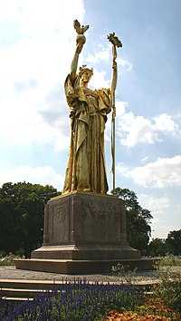 Replica of Daniel Chester French's Statue of the Republic at the site of the World's Columbian Exposition.