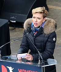 Johansson at the 2017 Women's March