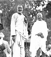 Indian National Congress leaders Khan Abdul Ghaffar Khan and Mohandas Gandhi both championed Hindu–Muslim unity and opposed the partition of colonial India.