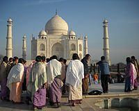 Visitors at Taj Mahal
