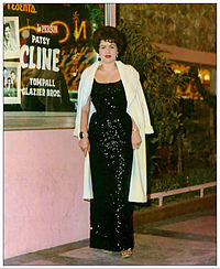 Patsy Cline in front of the Merri-Mint Theatre in Las Vegas, Nevada, late 1962