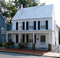 Cline's house on South Kent Street in Winchester, Virginia where she lived from age 16 to 21.