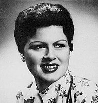 Cline promotional photograph shortly before her 1961 life-threatening car accident