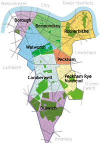 Areas of Southwark