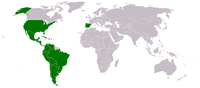 Map of where voting members of the Latin Recording Academy live.