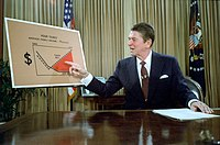 Reagan outlines his plan for Tax Reduction Legislation in a televised address from the Oval Office, July 1981