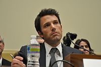 Affleck in 2011, testifying before the [[United States House Foreign Affairs Subcommittee on Africa, Global Health, Global Human Rights and International Organizations|House Subcommittee on Africa, Global Health and Human Rights]]