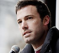 Affleck speaking at a Feeding America rally in 2009