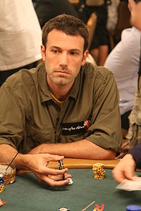 Affleck at the 2008 World Series of Poker in Las Vegas, Nevada