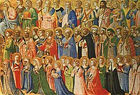 The Forerunners of Christ with Saints and Martyrs, a painting by Fra Angelico, 15th century