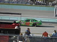 Yeley practicing for the 2007 Ford 400 at the Homestead-Miami Speedway