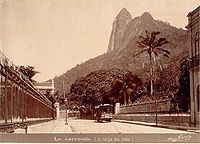 A view of the Corcovado before the construction, 19th century
