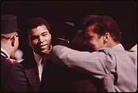 Ali attending a Saviours' Day celebration in 1974
