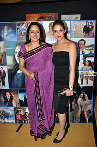 Deol (right) pictured with her mother Hema Malini in 2009
