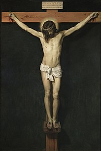 Crucifixion, representing the death of Jesus on the Cross, painting by Diego Velázquez, c. 1632.
