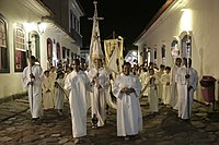 A Christian procession in Brazil, the country with the largest Catholic population in the world.