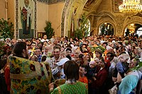 Trinity Sunday in Russia; the Russian Orthodox Church has experienced a great revival since the fall of communism.