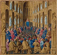 Pope Urban II at the Council of Clermont, where he preached the First Crusade.