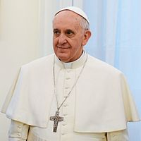 Pope Francis, the current leader of the Catholic Church.