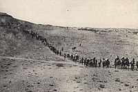 Christians fleeing their homes in the Ottoman Empire, circa 1922. Many Christians were persecuted and/or killed during the Armenian Genocide, Greek Genocide, and Assyrian Genocide.