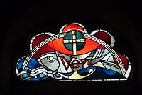"""The cross and the fish are two common symbols of Jesus Christ; letters of the Greek word ΙΧΘΥΣ Ichthys (fish) form an acronym for """"Ἰησοῦς Χριστός, Θεοῦ Υἱός, Σωτήρ"""", which translates into English as """"Jesus Christ, God's Son, Savior""""."""