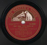 """British pressing of """"East St. Louis Toodle-Oo"""" (1927)"""