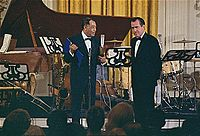 Ellington receiving the Presidential Medal of Freedom from President Nixon, 1969.