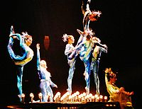 The show Dralion, Cirque du Soleil, introduced in 2004