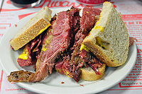 Montreal-style smoked meat from Schwartz's in Montreal