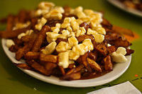 A classic poutine from La Banquise in Montreal