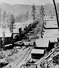 Deadwood, like many other Black Hills towns, was founded after the discovery of gold.
