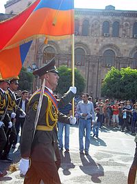 21 September 2011 parade in Yerevan, marking the 20th anniversary of Armenia's re-independence.