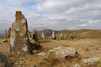 Bronze Age archeological site Zorats Karer (also known as Karahunj).