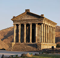 """The pagan Garni Temple, probably built in the first century, is the only """"Greco-Roman colonnaded building"""" in the post-Soviet states"""
