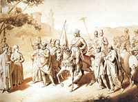 The King of Kings Tigranes the Great with four vassal Kings surrounding him