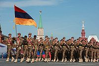 Armenian soldiers at the 2010 Moscow Victory Day Parade.
