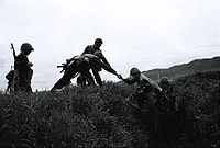 Armenian soldiers during the Nagorno-Karabakh conflict.