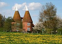 Converted oast houses at Frittenden