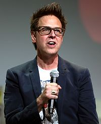 Gunn promoting Guardians of the Galaxy Vol. 2 at the 2016 San Diego Comic-Con