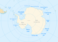 Seas that are parts of the Southern Ocean