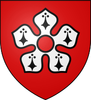 Arms of the City of Leicester: Gules, a cinquefoil ermine pierced of the field