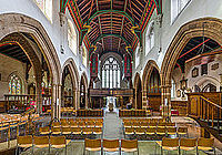 The interior of Leicester Cathedral