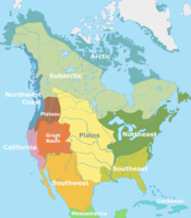 The Cultural areas of pre-Columbian North America, according to Alfred Kroeber.
