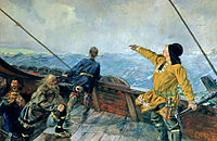 Leif Erikson discovers America by Christian Krohg, 1893