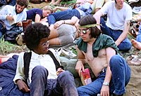 Two hippies at Woodstock