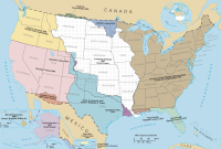 Territorial expansion; Louisiana Purchase in white.