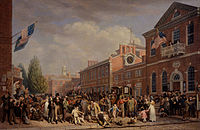Depiction of election-day activities in Philadelphia by John Lewis Krimmel, 1815