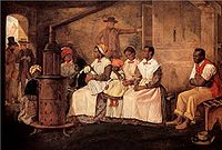 Slaves Waiting for Sale: Richmond, Virginia. Painted upon the sketch of 1853